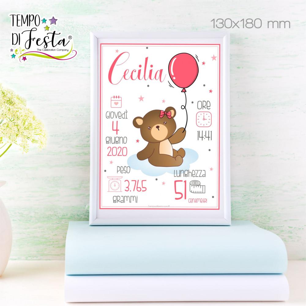Personalized little bear birth