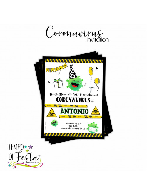 Coronavirus themed invitation