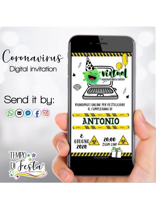 Coronavirus invitación digital para whatsApp