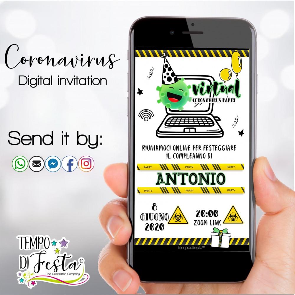 Coronavirus digital invitation whatsApp