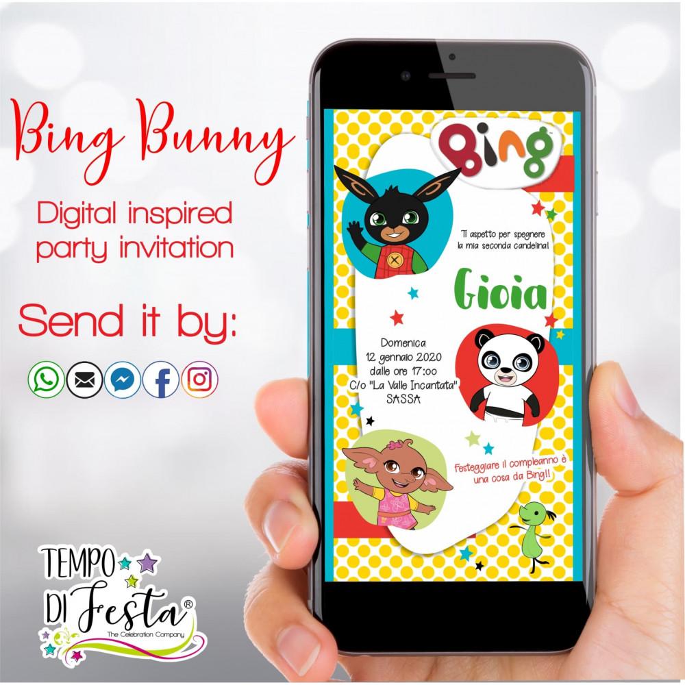 Invito digitale ispirato a Bing per WhatsApp