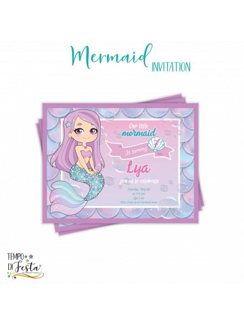 Invitación temática Sirena