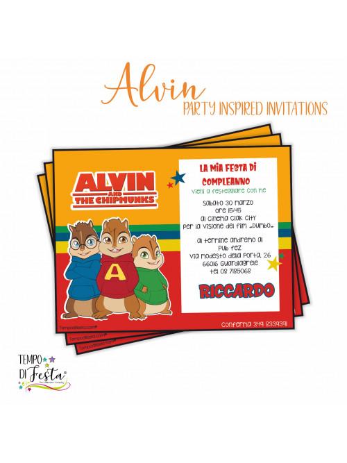 Inviti ispirati a Alvin