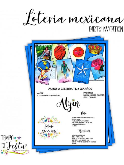Inviti a tema Lotería Mexicana