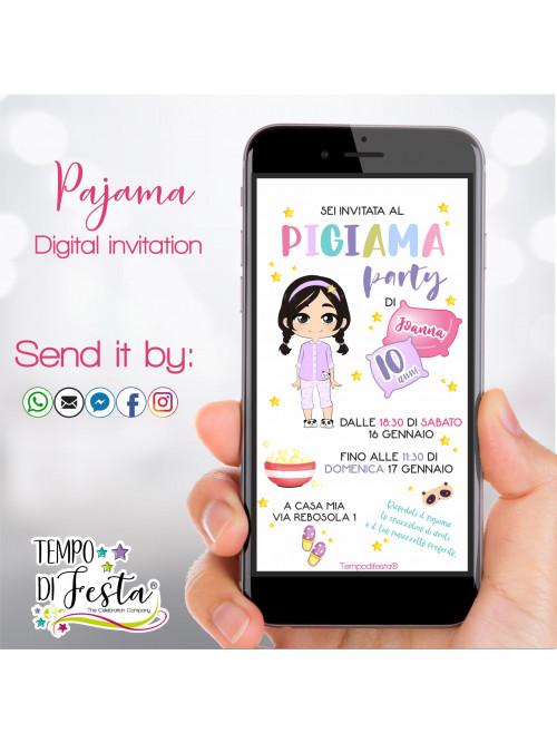 Pajamas Digital invitation...