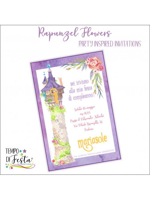 TANGLED FLOWERS INVITATION
