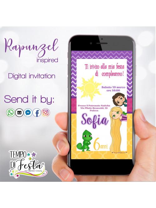 Rapunzel Digital invitation...
