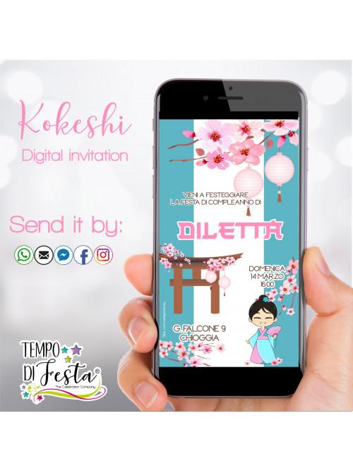 Kokeshi Digital invitation...