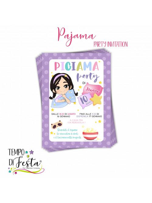 Pajama Party Theme Invitation