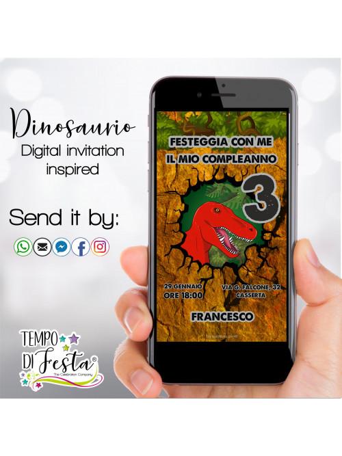 Dinosaur Digital invitation...