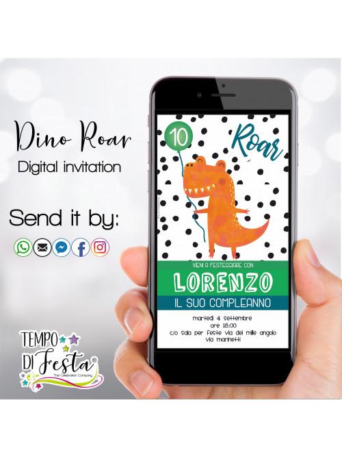 Inviti digitali Dino Roar...