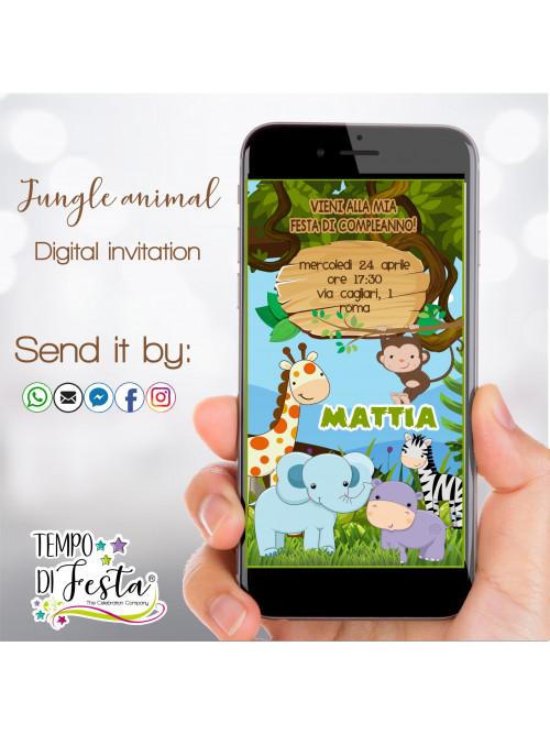 Jungle animals digital...