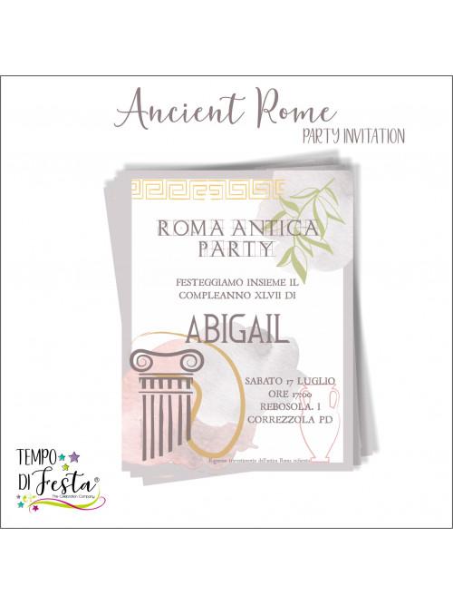 Inviti a tema Roma antica