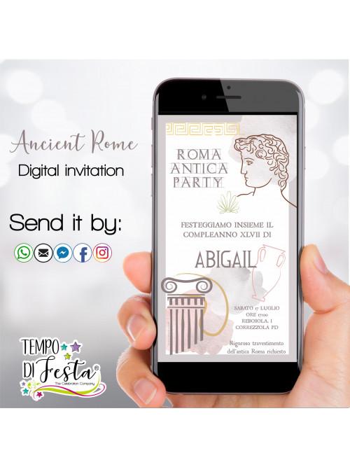 Inviti digitali Roma Antica per WHATSAPP