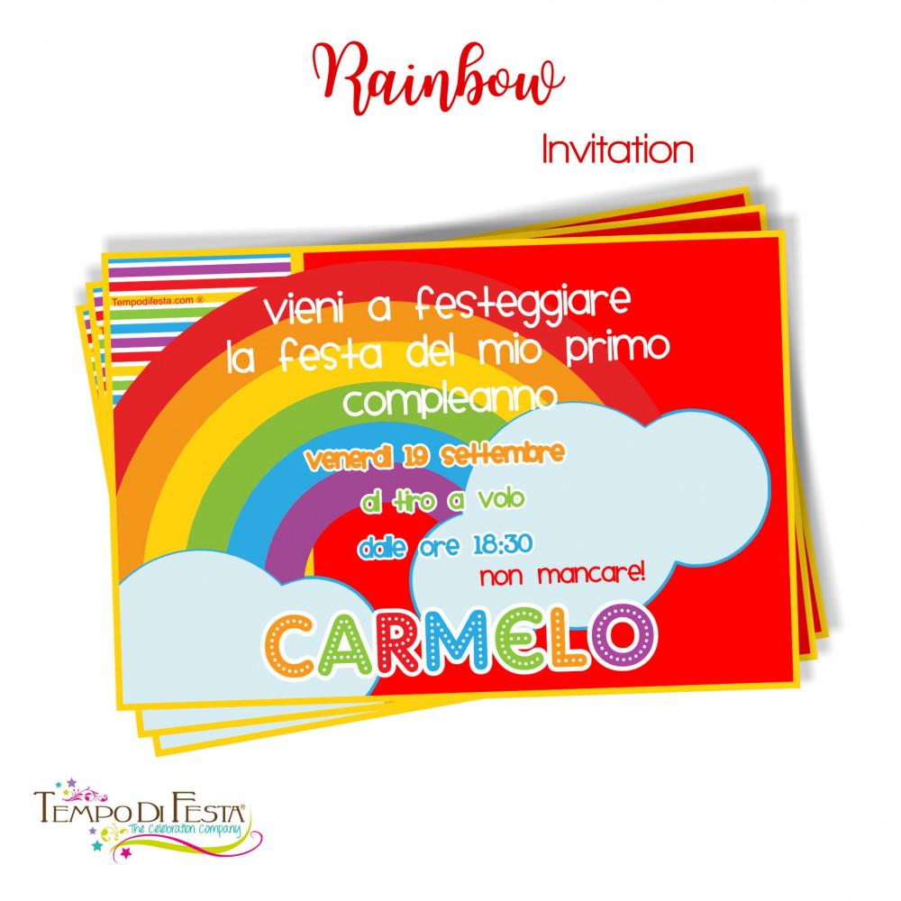 inviti a tema arcobaleno