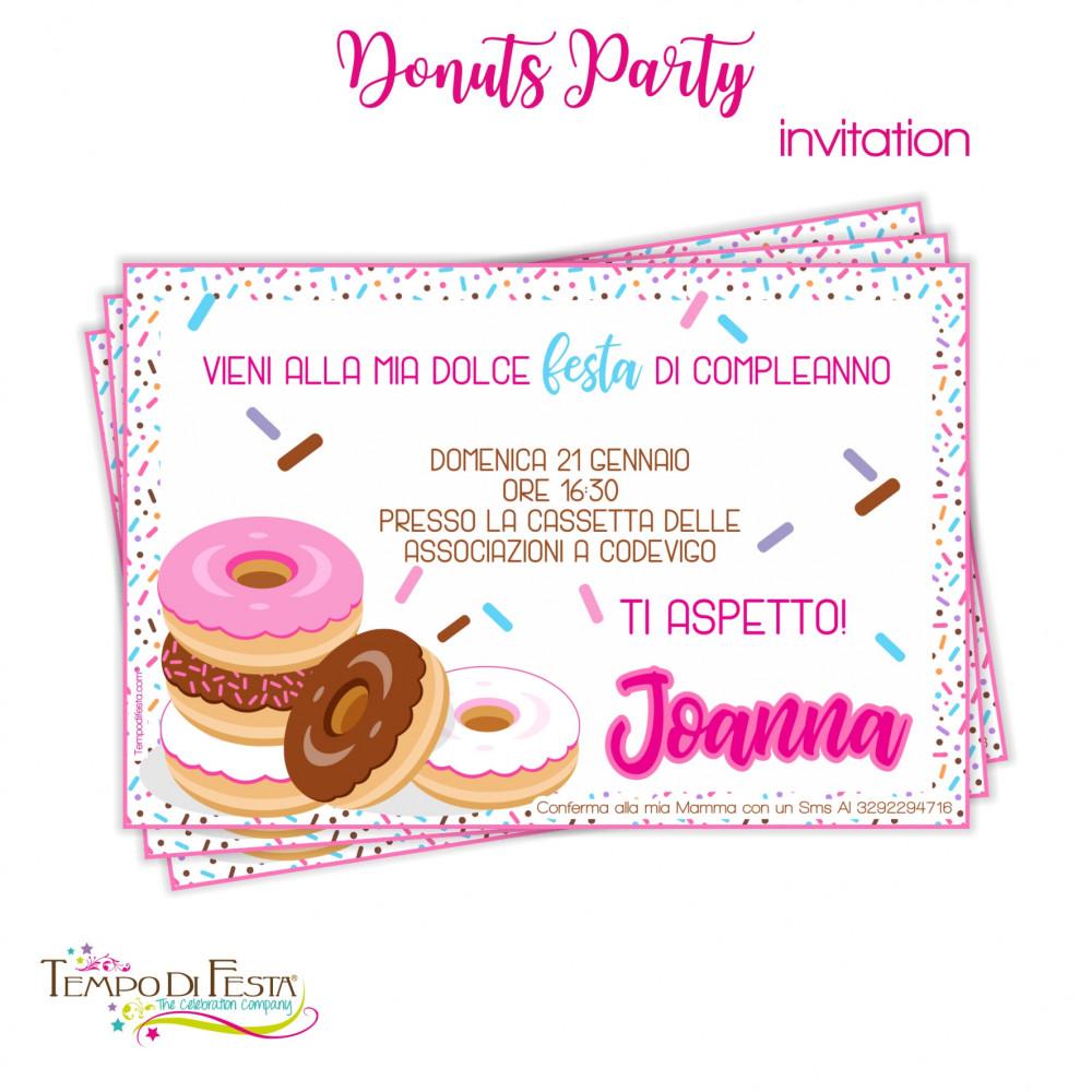 DONUTS PARTY INVITAZIONI