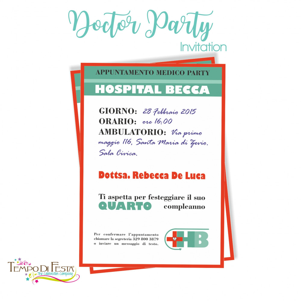 DOCTOR PARTY INVITATION
