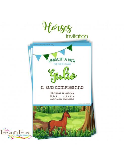 HORSES PARTY INVITATION