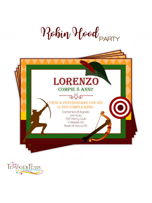 ROBIN HOOD INVITACIONES...