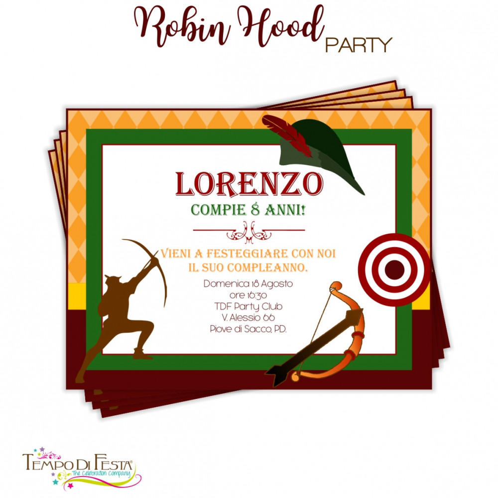 ROBIN HOOD CUSTOMIZED PARTY INVITATIONS