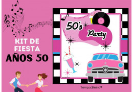 Kit de fiesta con el tema de los años 50 15/12/2020