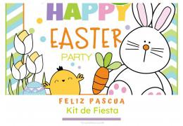 Kit de fiesta temática Feliz Pascua  23/03/2021