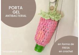 Porta gel antibacterial con forma de fresa en crochet, Patrón 11/05/2020