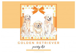 Golden Retriever themed party kit 2021/02/18